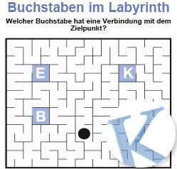 Buchstaben im Labyrinth
