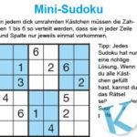 Mini-Sudoku