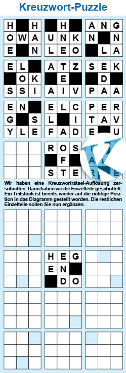Kreuzwort-Puzzle