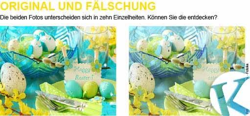 Original und Fälschung – Ostern