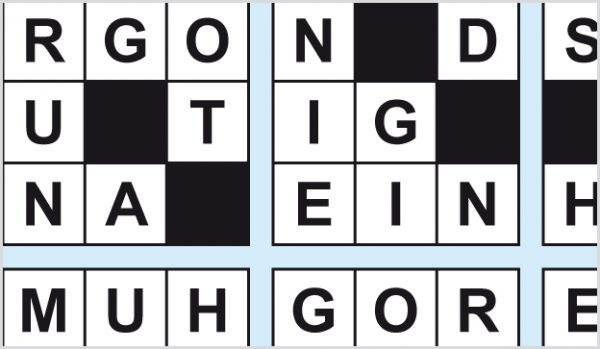 Kreuzwortpuzzle