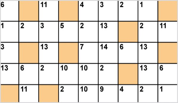 Zahlenkreuzworträtsel